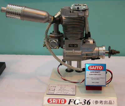 Четырехтактный искровой двигатель Saito FG-36