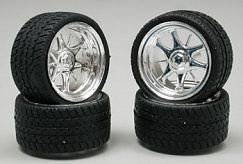 1/24-1/25 Daggars Chrome Rim/Tires
