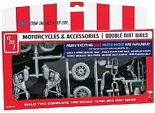 AMTPP14 1/25 1970s Double Dirt Bike Motorcycle Pack (2 Kits)