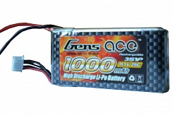 1000MAH 11.1V 25C 3S1P LIPO BATTERY PACK