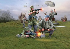 1/72 German Paratroopers WWII Plastic Model Kit