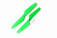 Rotor blade set, green (2)/ 1.6x5mm BCS (2)