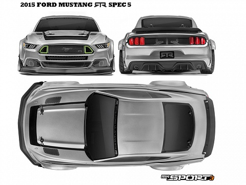 Туринг 1/10 -  RS4 SPORT 3 2015 FORD MUSTANG RTR SPEC 5 №3