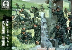 1/72 Waterloo: WWII Italian Infantry Support Group (26 w/2 Motorcycles & 2 Bicycles)