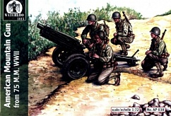 1/72 Waterloo: WWII American 75mm Mtn Gun (3 & 12 Figs)