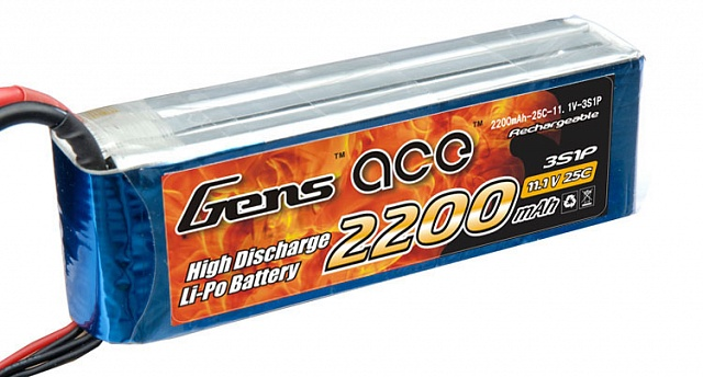 2200MAH 11.1V 25C 3S1P LIPO BATTERY PACK №1