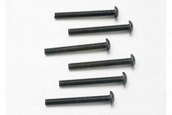 Screws, 3x25mm button-head machine (hex drive) (6)