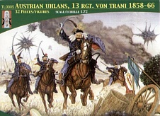 1/72 Austrian Uhlans 13th Regiment Von Trani (16 Mtd)