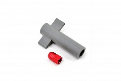 Antenna crimp nut, aluminum (red-anodized)/ antenna nut tools