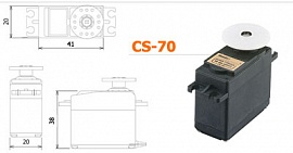 CS-70 Servo Super Torque 2BB U