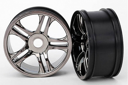 Wheels, split-spoke (black chrome) (front) (2) №1