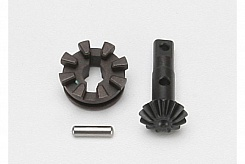 Gear, locking differential output/ differential slider/ 3x12mm screwpin