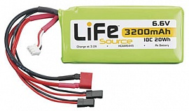 LiFe 6.6V 3200mAh 10C Rx LiFeSource Balance U