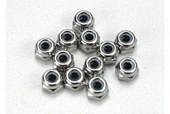 Nuts, 2.5mm nylon locking (12)