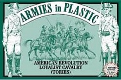 1/32 American Revolution Loyalist Cavalry (Tories) (5 Mtd)