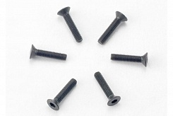 Screws, 2.5x12mm countersunk machine (hex drive) (6)