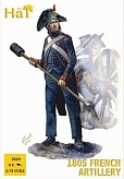 1/72 Napoleonic 1805 French Artillery (16 w/4 Cannons)