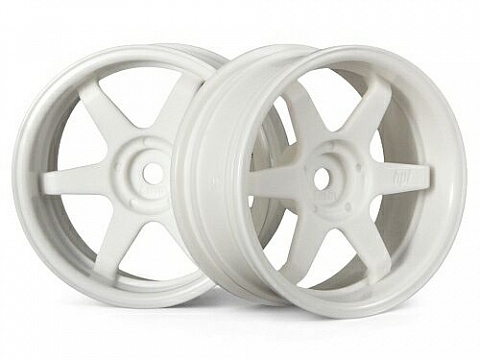 Диски туринг 1/10 - TE37 26MM WHITE (6MM OFFSET) 2шт №1
