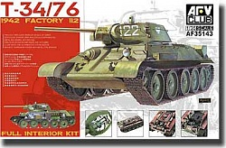 1/35 T34/76 1942 Factory 112 Full Interior Tank